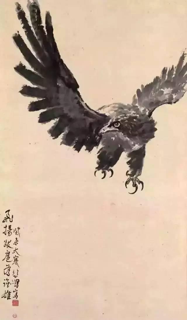 栩栩如生_八大名家畫鷹,誰的更具神韻?-趣讀
